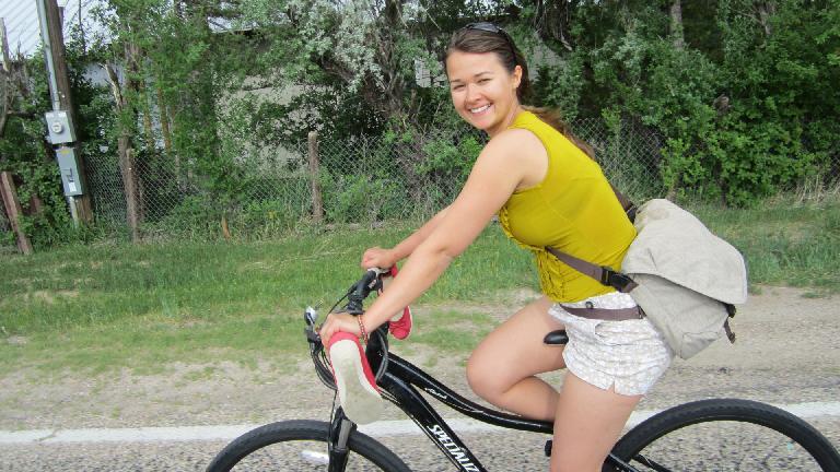 Katia joined me on the bike back home.