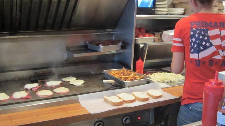 Making 'Burgh-famous sandwiches at Primanti Bros. (July 19, 2014)