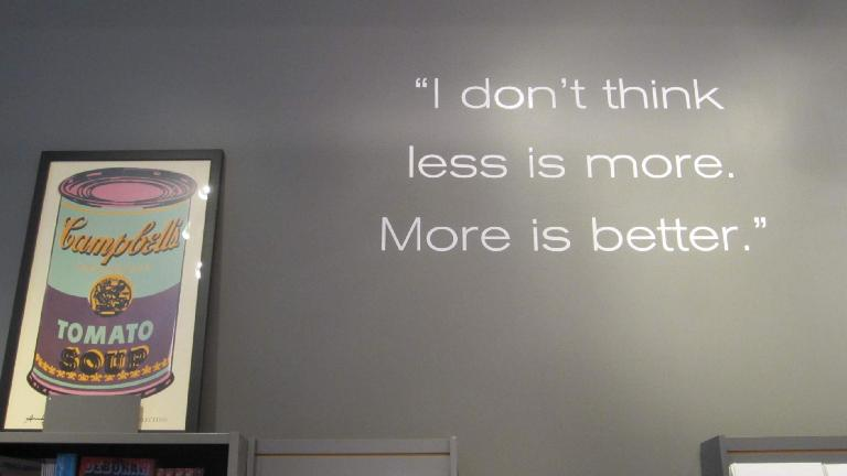 "Inside the Andy Warhol Museum: ""I don't think less is more. More is better."" (July 19, 2014)"