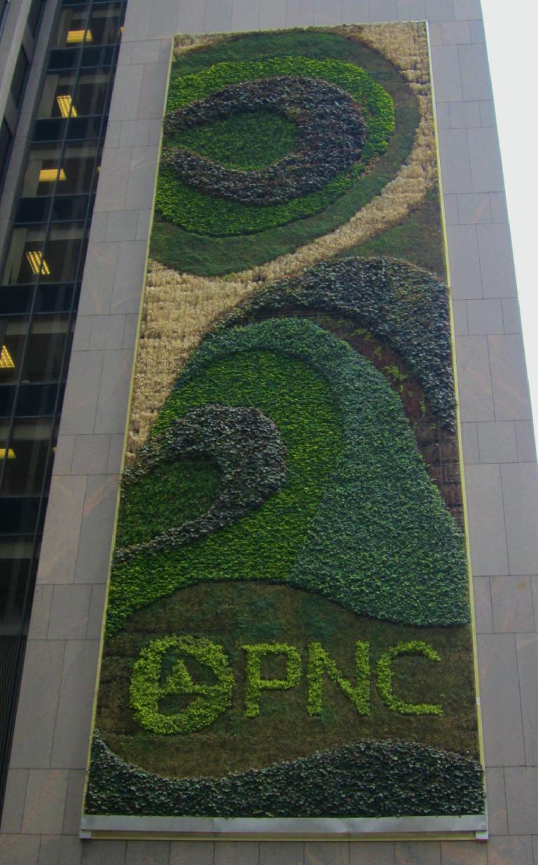 The world's largest living greenwall at One PNC Plaza. (July 21, 2014)