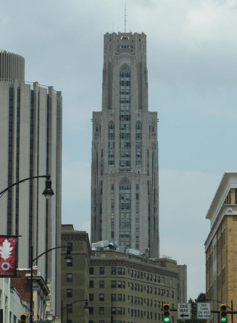 The University of Pittsburgh's Cathedral of Learning---the second tallest academic building in the world. (July 21, 2014)