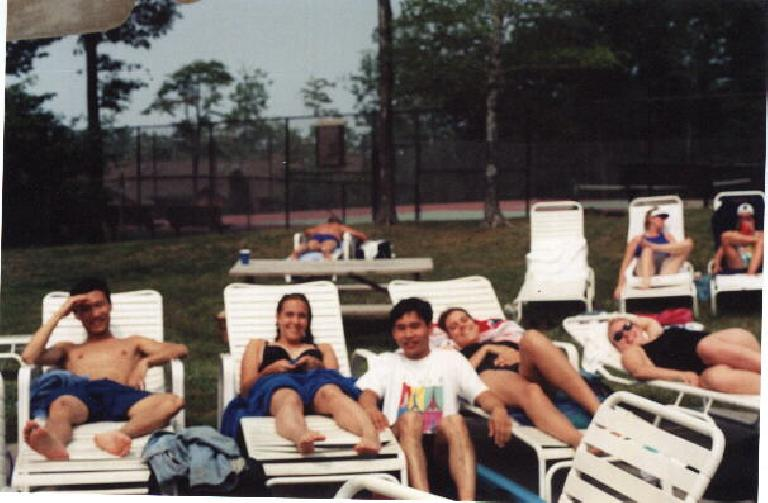 The lovelies sunbathing. (July 18, 1999)