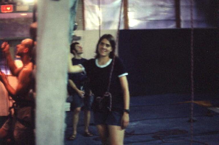 Kat ready to climb.