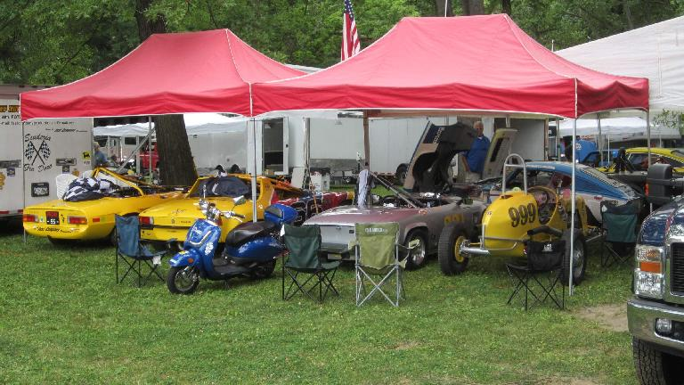 Cars at the Pittsburgh Vintage Grand Prix.