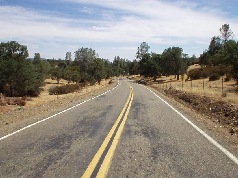 Let the real climbing begin: San Antonio Road (Hwy 130).
