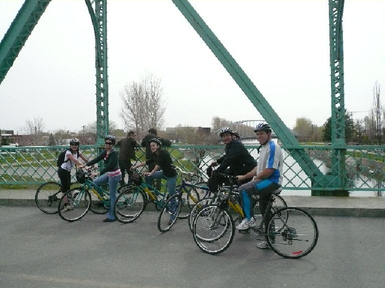One afternoon, a bunch of us rented bicycles for a leisurely ride on the Canal de Lachine bike trail after school. (May 7, 2008)