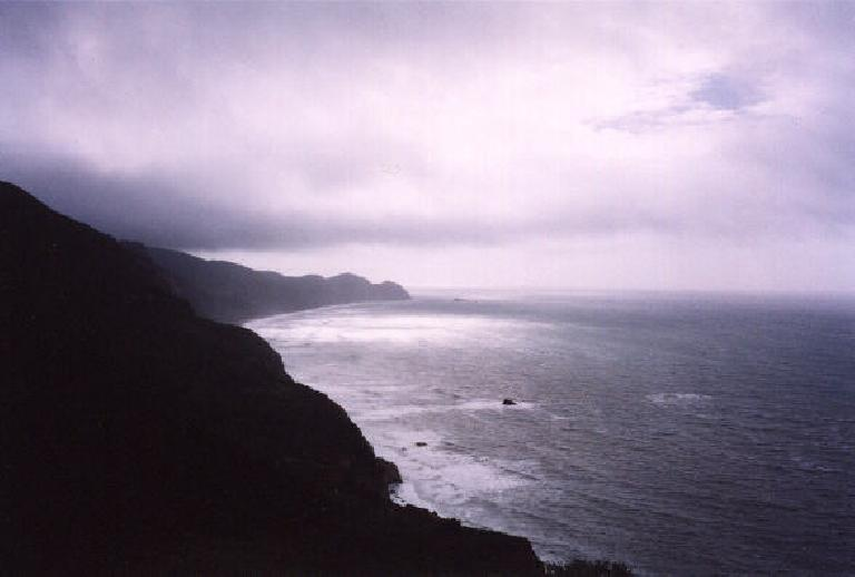Mystical pic of the Pacific coastline. (February 19, 2001)