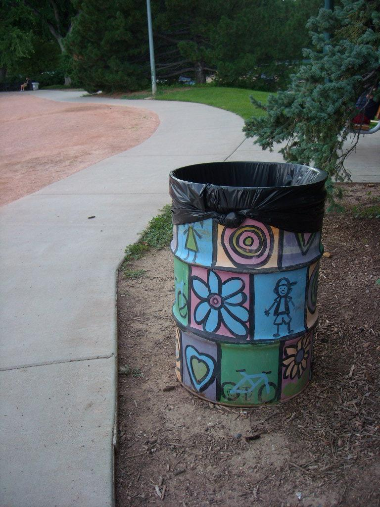 Even the garbage cans at City Park are artsy.