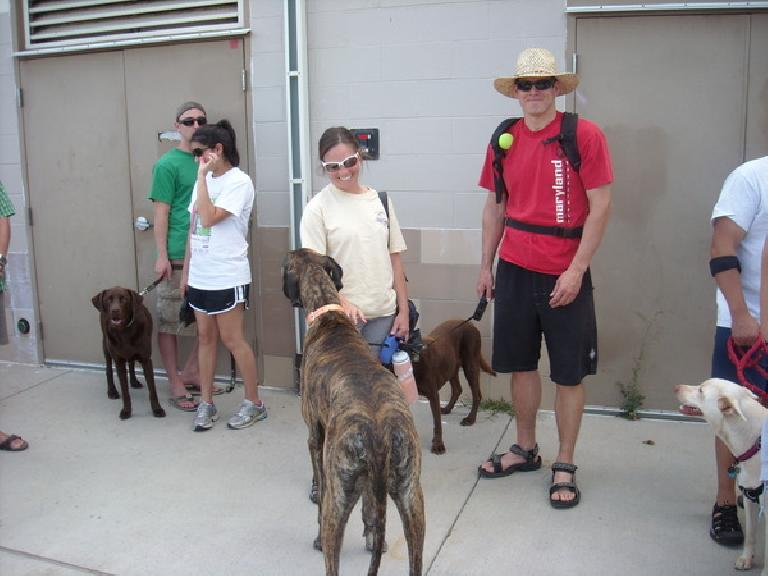 Katie and Chris with Griffen, their Great Dane.