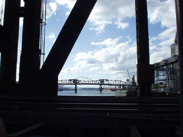 Portland has 8 bridges.  Here is one of them. (July 13, 2003)
