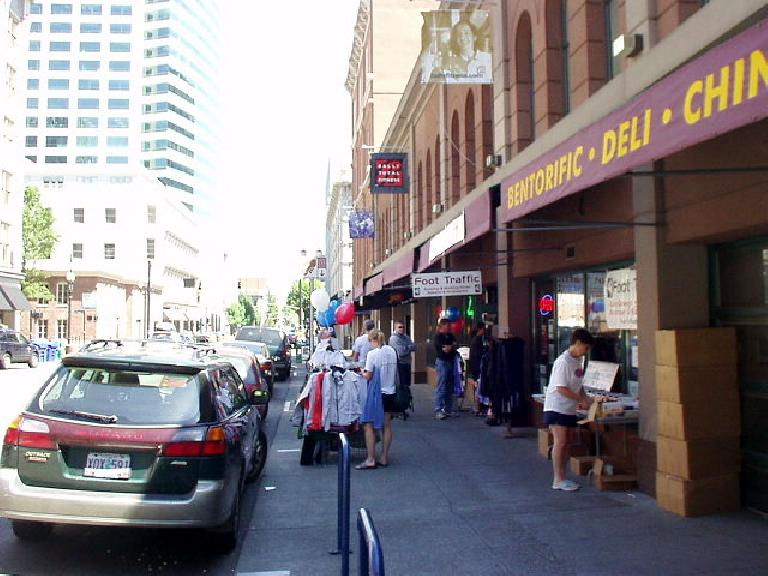 Downtown at the Foot Traffic store where I picked up registration materials for the Foot Traffic Marathon.