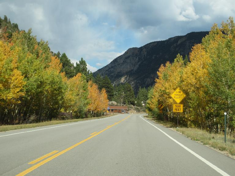 Colorful trees along Highway 14.