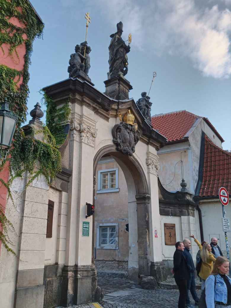 A gateway to the Strahov Monastery in Prague.
