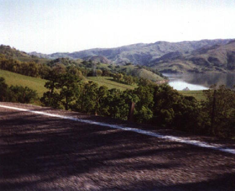 Calaveras Road geatured many rollers and hairpin turns.