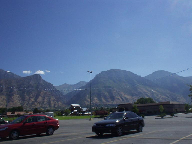 The Wasatch Mountain Range is a bit browner by Provo than by Ogden.
