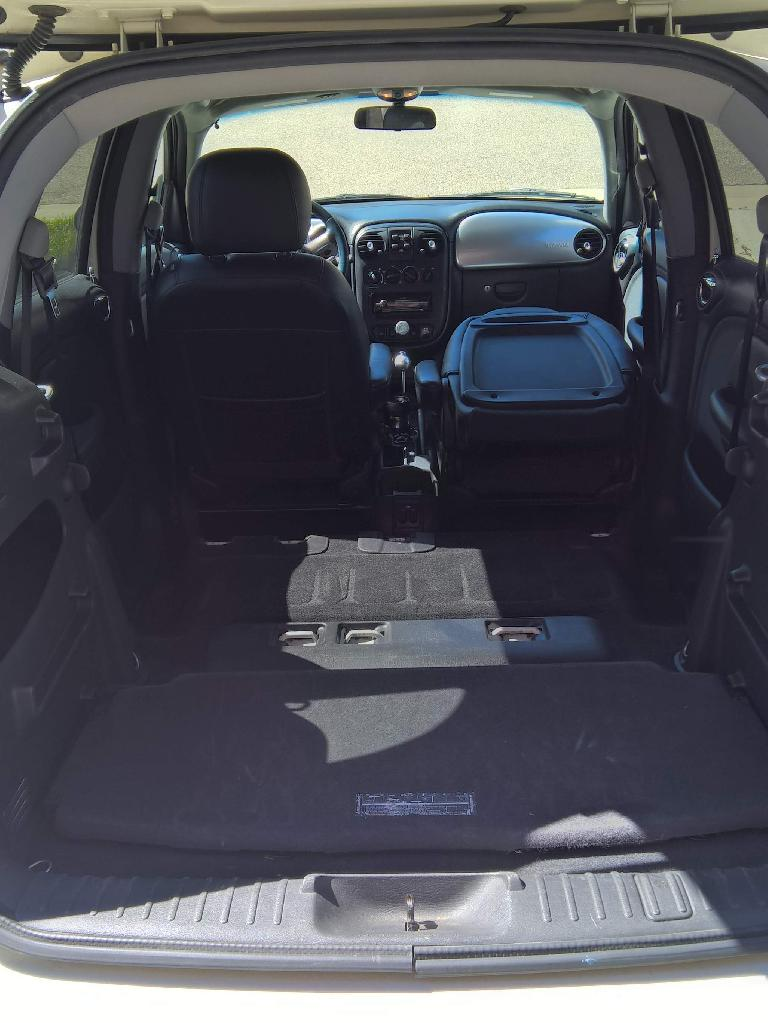 With the rear seats removed, the PT Cruiser has enormous cargo capacity.