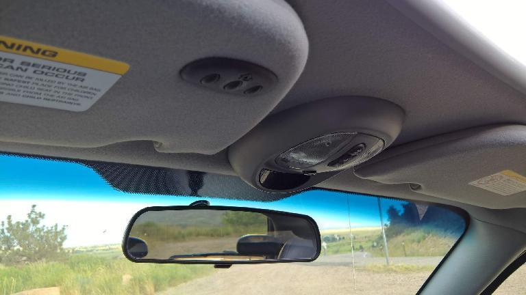 remote garage door opener, sunroof, rear mirror, 2005 PT Cruiser GT.