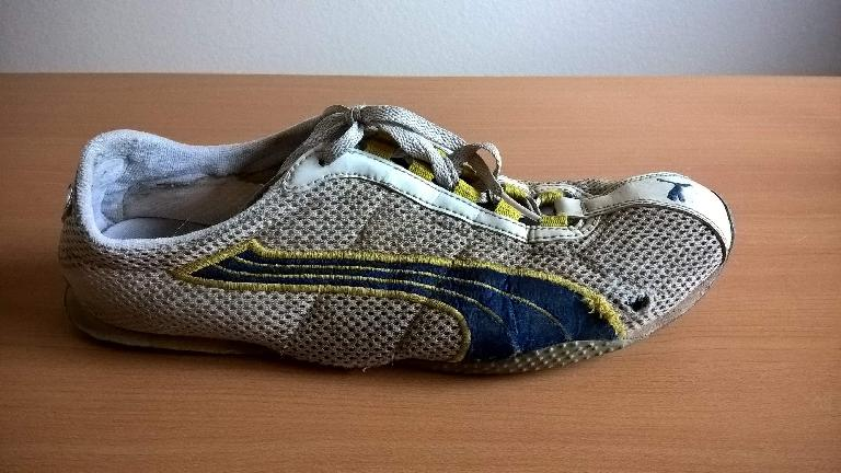worn Puma H-Street shoes after 1174 miles