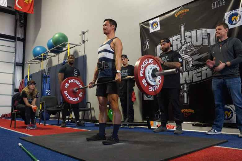 Felix Wong on his first deadlift attempt during Pursuit Power 2020.