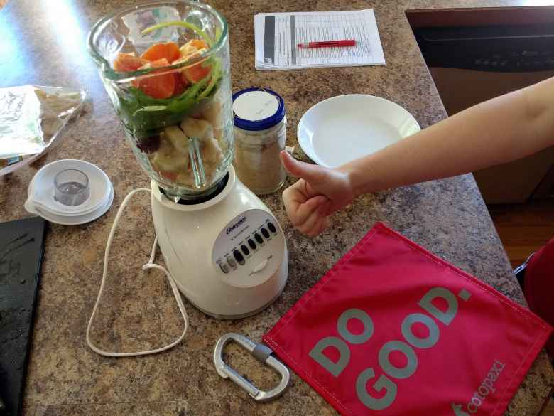 Making a smoothie for 2017 Questival Denver.