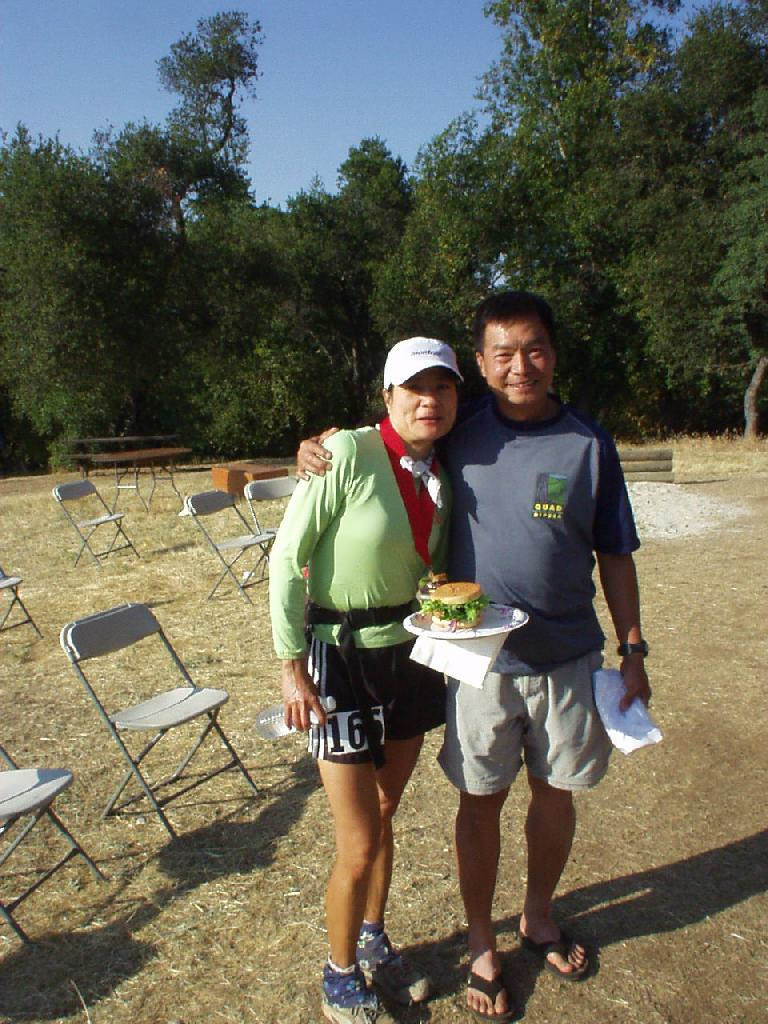 My former co-worker, Chau Pham, and his wife Mylinh also did the race.