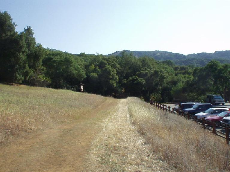 The race was primarily through the Almaden-Quicksilver Park through San Jos?, most of it on trails such as this.