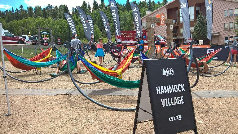 Hammock Village at 2016 Ragnar Trail Angelfire.