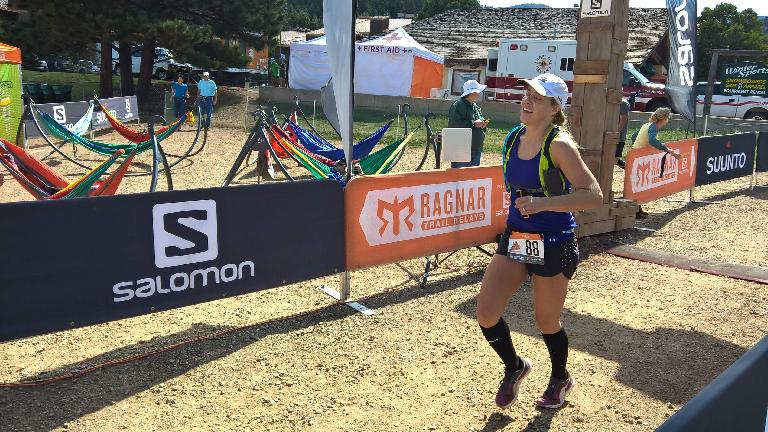 Amarah starting Loop 19 of the 2016 Ragnar Trail Angelfire relay.