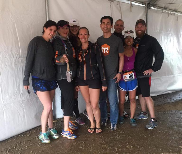 Team Bear Butts at the 2016 Ragnar Trail Angelfire relay included Tamara, Peggy, Amarah, Krista, Felix, Patrick, Aileen, and Brad.