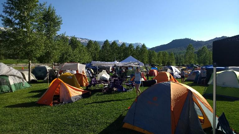 Tent city at Ragnar Snowmass.