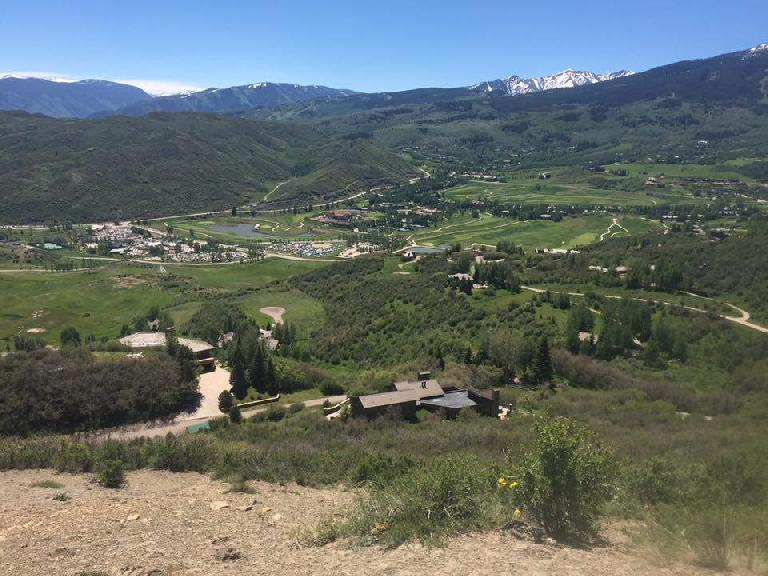 The view of Snowmass from the 6.7-mile Red loop during the 2017 Ragnar Trail Relay.