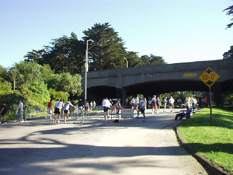 Another Sunday, another race in San Francisco.  This was the Rainbow Falls 5k run in Golden Gate Park, which I arrived at in just the nick of time.