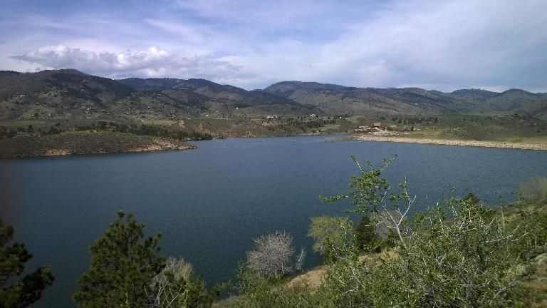 North end of the Horsetooth Reservoir.