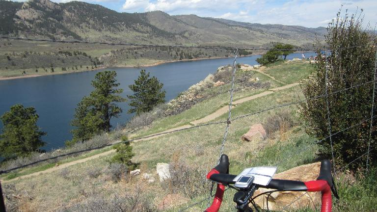 [Mile 44] Making a pit stop at Rotary Park by the Horsetooth Reservoir.