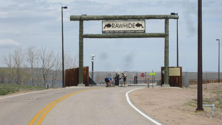 [Mile 69.5] The Rawhide Powerplant, the namesake of this ride. From this point on I'd ride mostly east and south right into a strong headwind.