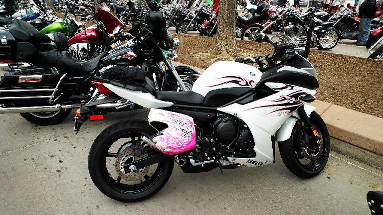 Presumably a woman's sport bike.