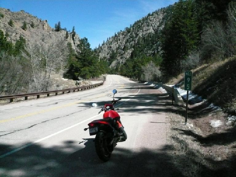 ... but was happy to get back on pavement, especially through the gorgeous Poudre Canyon.