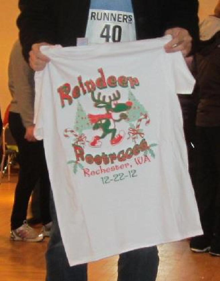 The T-shirt participants received. Good candidate for an Ugly Christmas T-shirt contest?