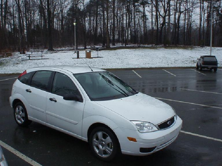 Another one of my favorite rental cars is the Ford Focus (either 3-door or 5-door hatchback), as shown here on a trip to Asheville in March 2005.  Like the PT Cruiser it is both stylish and spacious, and more fun to drive. (March 17, 2005)