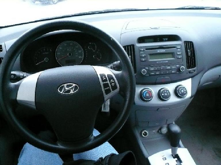 The stylish, high-quality interior of the Hyundai Elantra.
