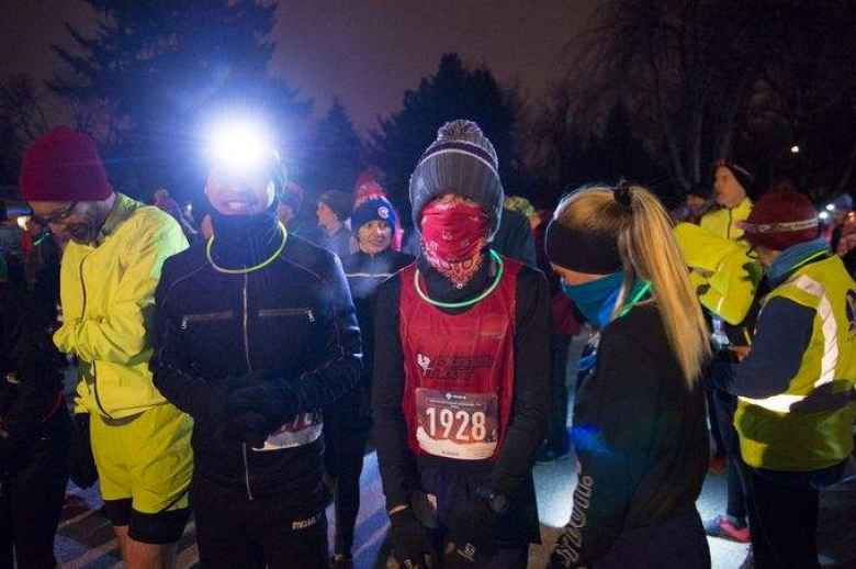 Felix Wong, Jackson Shorten, and Kiera Shorten at the start of the Resolution Run.