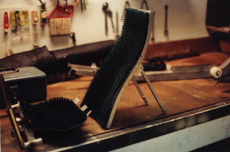 AstroTurf seat bottom, seat back, Reynolds Wishbone recumbent
