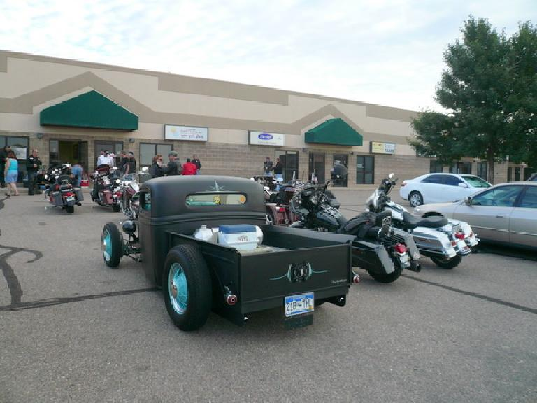 Gathering at Shelter Insurance in Evans, CO at 7:00 a.m. for the Ride for Life motorcycle tour.