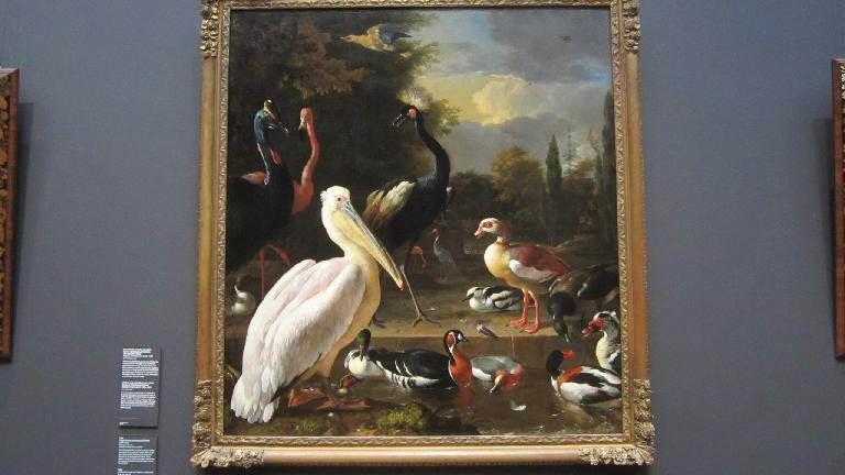 Painting of a pelican.