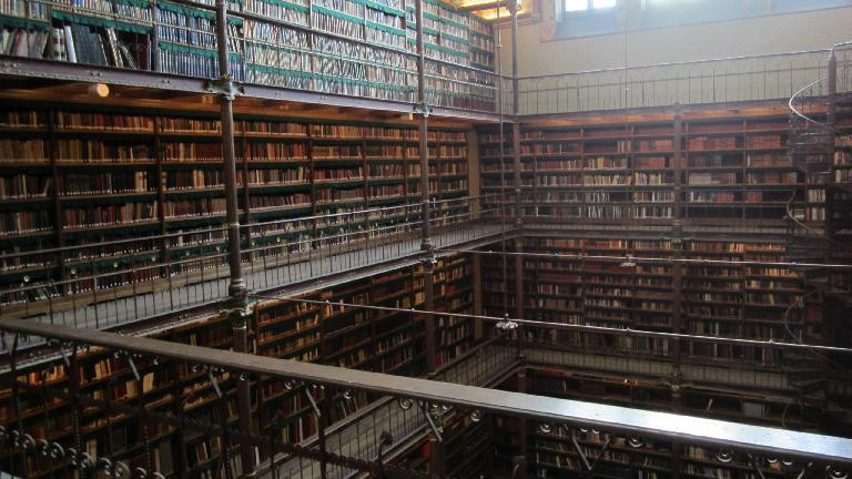Huge library at the Rijksmuseum.