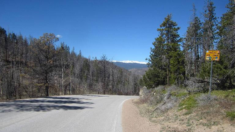 View of the Rockies from the top of Rist Canyon Rd.