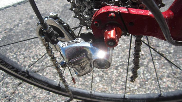 With 16 miles to go, my chain completely broke! Luckily I had a chain tool.