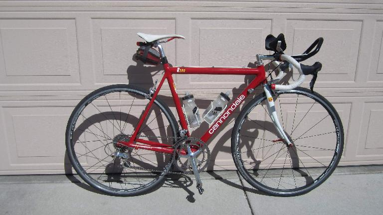 Back home with my trusty, red Cannondale 3.0.