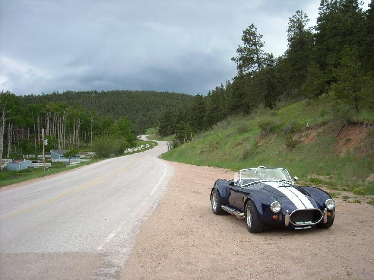 Halfway up Rist Canyon, I spotted this Shelby Cobra.