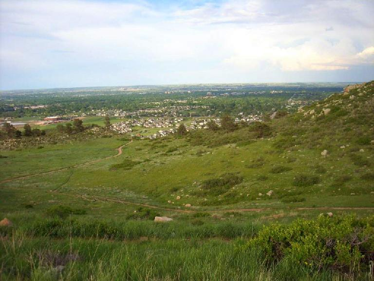 Fort Collins down below.  One day I should ride these MTB trails going down to it.